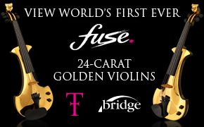 fuse 24carar gold plated golden electric violins london entertainment hire linzi stoppard
