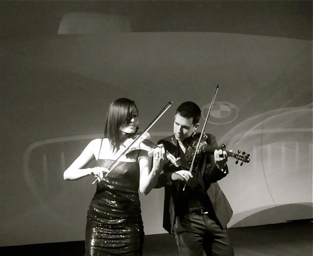 FUSE electric violinist hire Turkey corporate entertainment