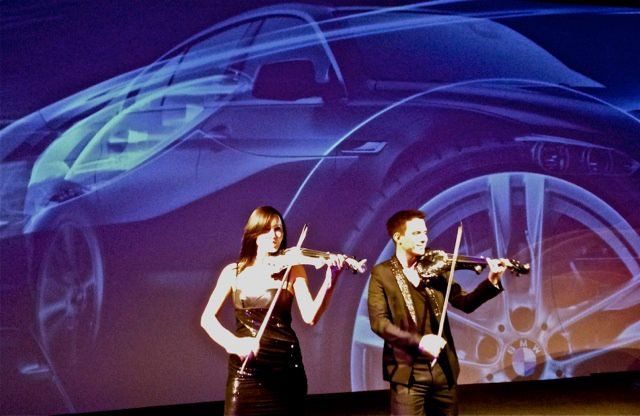 bmw istanbul FUSE electric violinist hire corporate entertainment