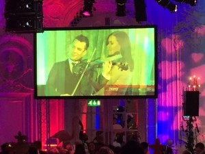 Violinist Linzi Stoppard performs for Macmillan Annual Ball