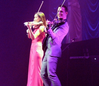 FUSE Electric Violin Duo Raise The Roof In Boston