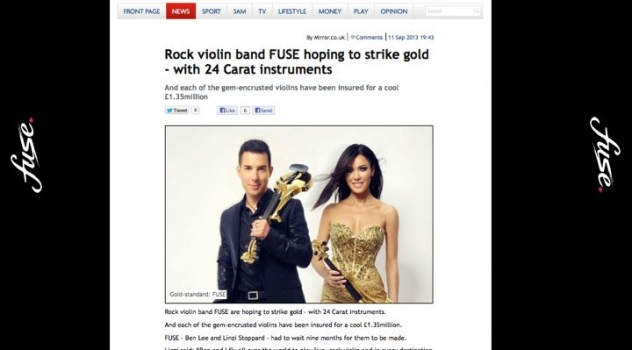 Linzi Stoppard Gold Plated Violins – World's First Ever