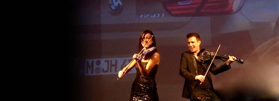 fuse electric violin duo live BMW